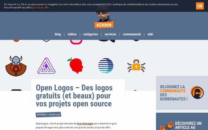 Korben : Open Logos, des logos gratuits (et beaux) pour vos projets open source