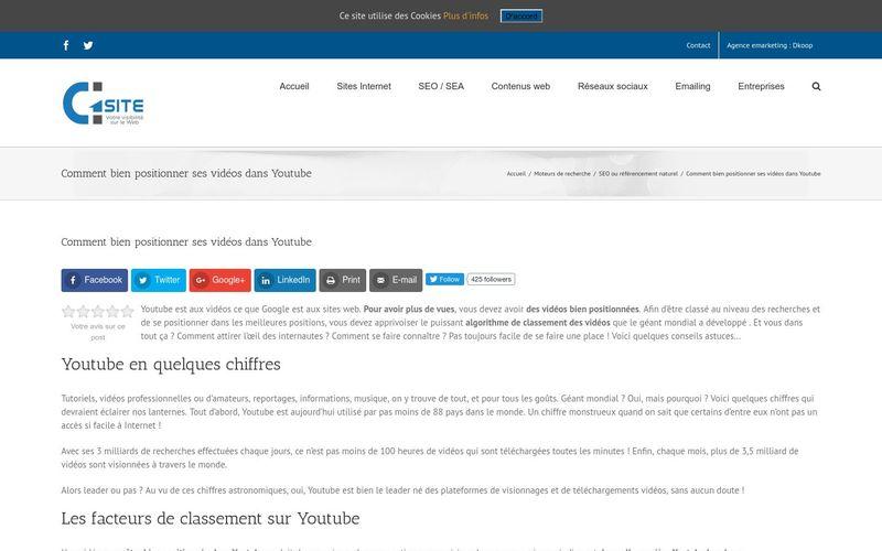 Comment bien positionner ses vidéos dans Youtube : G1site