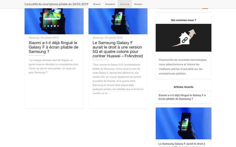 L'actualité du smartphone pliable chez Samsung